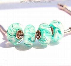 European charm bracelet pandora stamped beads