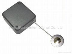Merchandise mechanical security recoiler