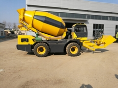 good quality 3.5m3 self loading concrete mixer truck