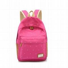 Custom Canvas School Bags Backpacks For Girls