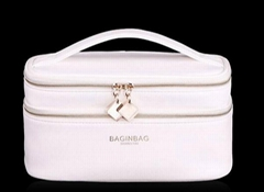 Custom Double Layer fashion travel cosmetic bags