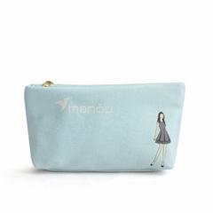 Custom mini Canvas small makeup bag cosmetic bag