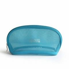 Custom Promotional nylon mesh cosmetics bag makeup bags