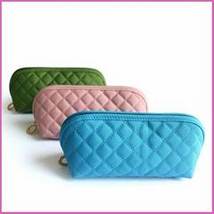 Custom quilted vanity microfiber eva organic ladies' cosmetic bag makeup bags