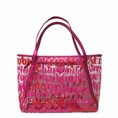 Custom PVC Transparent beach bags shopping bag