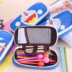 Custom pu cartoon pencil bag pencil case pencil box