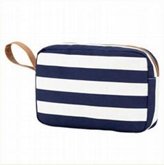 Printed stripe cosmetic bags makeup bags