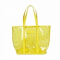 Transparent PVC tote bags shopping bags
