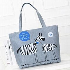 Cotton cartoon tote bags shopping bags shopper bags