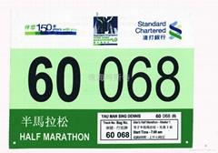 fiber fabric race number