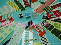 防滑防震胶垫、耐温绝缘胶片、导