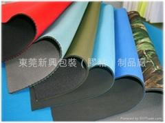 PU/SBR/CR 贴合各种颜色N/T布、阻尼布