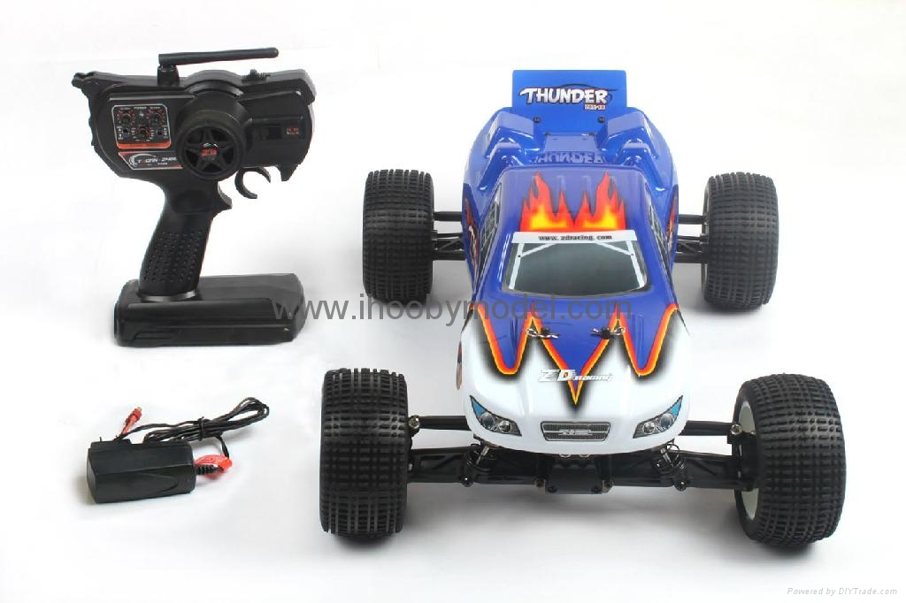 1/10 Electric RC Car Brushed Electric Tr   y 4WD 2.4G RTR off-road vehicles  5