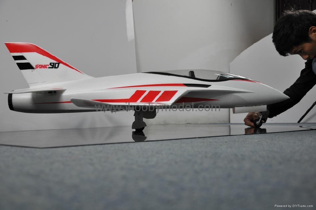 Sonic 90mm  EDF Jet 1200mm wingspan EPO RC plane model high speed airplane 3