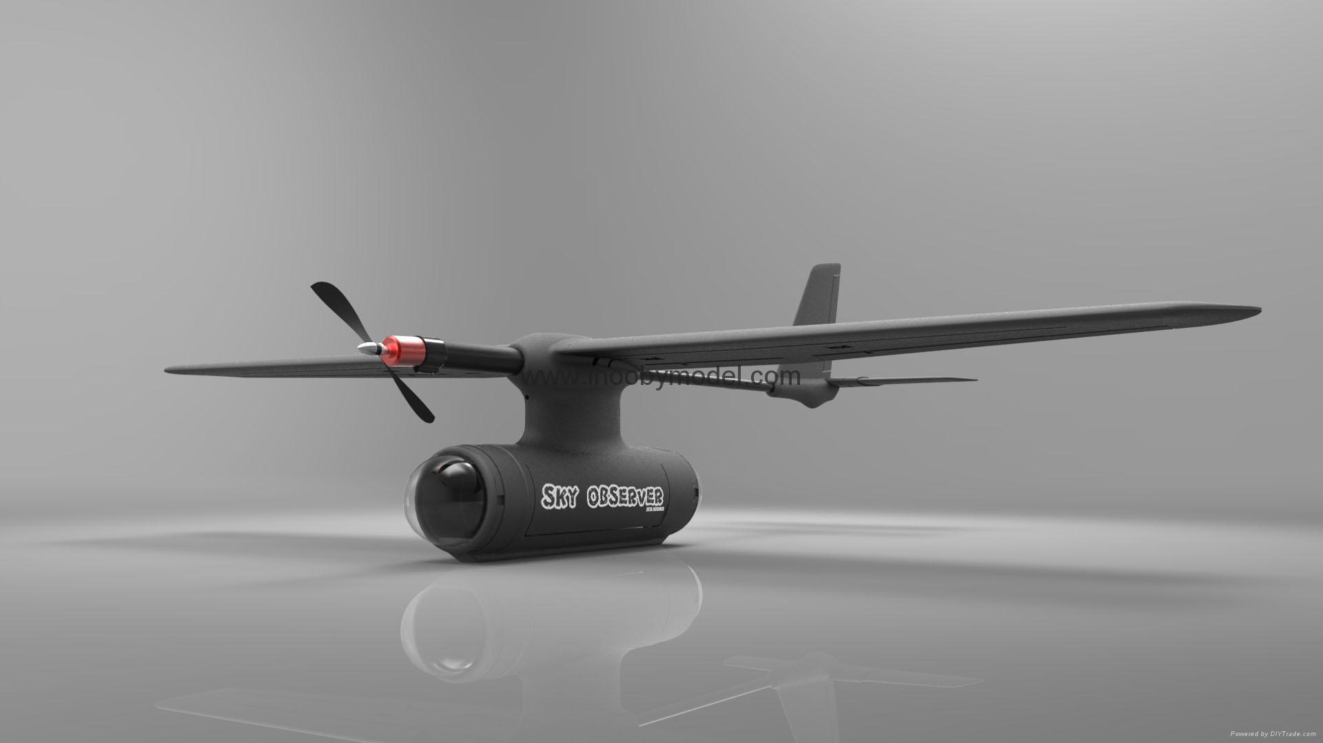 Sky observer FPV flying wing UAV EPO foam wing 2m wingspanf 2