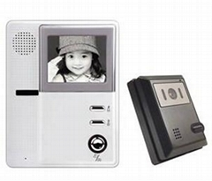China Hand free 4inch B/W Video intercom door phone doorphone