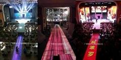LED防水感應互動發光視頻地板磚燈屏
