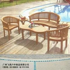 實木咖啡椅桌組
