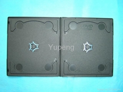 Double DVD Case double  DVD box double   DVD Cover 7MM Short  Black with Design