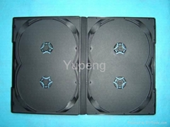 DVD Case DVD BOX  DVD Cover 14mm for 4 Discs Black without Tray