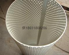 不锈钢直缝焊接滤芯中心网孔管anping