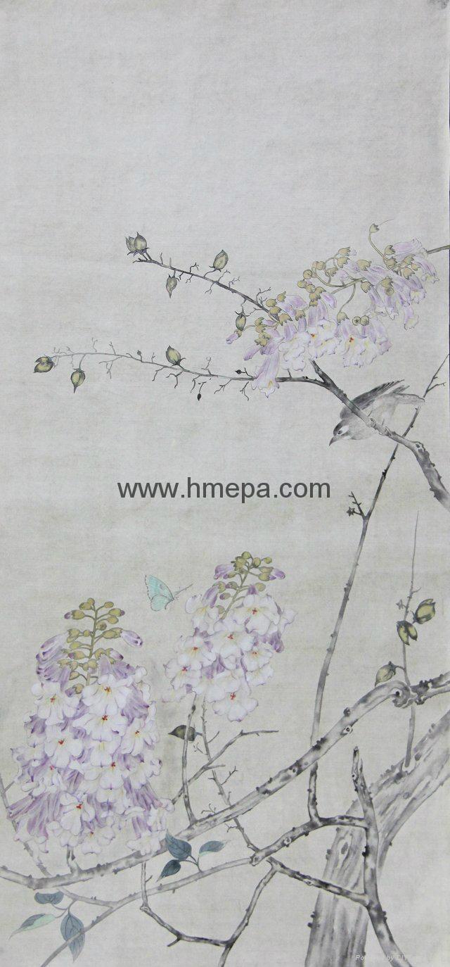 工笔画(春日的画-紫藤) 1