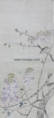 工笔画(春日的画-紫藤)