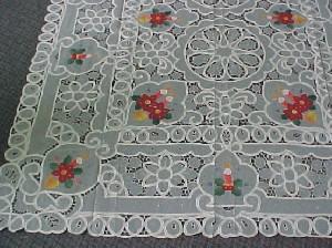 embroideried cutwork tablecloth ,X-Mas tablecloth