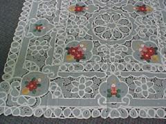 embroideried cutwork tablecloth ,X-Mas