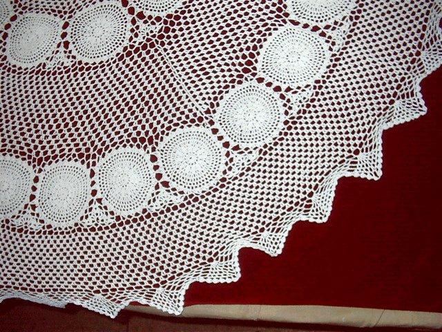 crochet tablecloth Mantel bordado