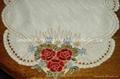 machine embroideried cutwork doily
