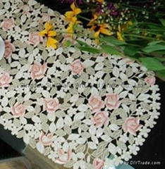 embroidered tablecloths with hand cutwork