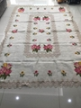 cross stitch tablecloth with embroidery with lace