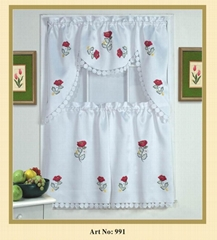 embroidered kitchen curtain