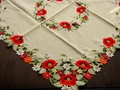 cross stitch tablecloth with embroidery with polyester  lace
