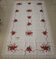 christmas embroidered tablecloth with cutwork