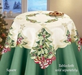 christmas and cutwork  tablecloth