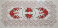 christmas tablecloth with x stitch embroidery