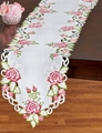 flower tablecloth with embroidery