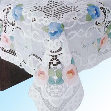 cutwork aplique tablecloth