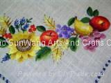 hand embroidery linen tablecloths