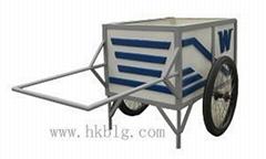 供應海口玻璃鋼手推垃圾車