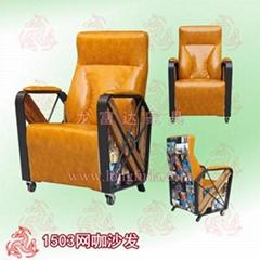 江门网吧沙发桌椅定制