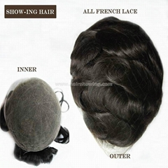 invisible all lace toupee