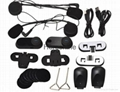 1000m  FM Radio intercom system motorcycle helmet bluetooth headset/intercom 4