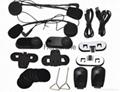 1000m  FM Radio intercom system motorcycle helmet bluetooth headset/intercom 4