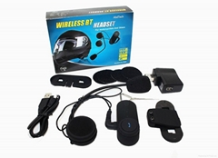 1000m  FM Radio intercom system motorcycle helmet bluetooth headset/intercom