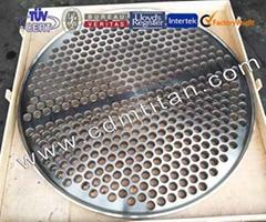 CDM Titanium clad steel tube sheet,Titanium clading plate