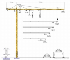 Tower crane F023B  max l