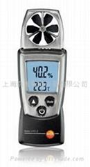 德圖testo410-1葉輪風速儀測量風速和溫度